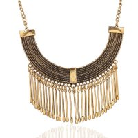 N1041 - Exaggerated tassel necklace