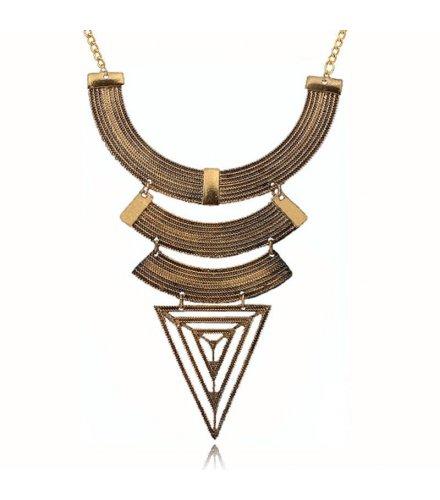 N1042 - Geometric triangular trade clavicle chain