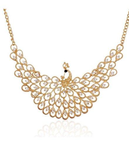 N1045 - Peacock diamond necklace