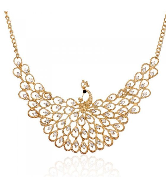 N1045 - Peacock diamond necklace