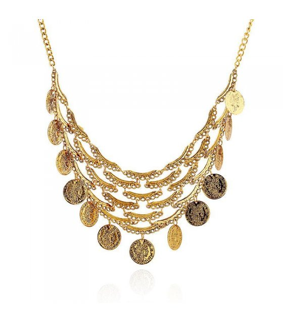 N1046 - Bronze Coin Necklace