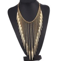 N1048 - Golden Spike Necklace