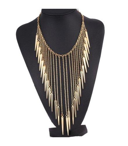 N1048 - Golden Spike Necklace