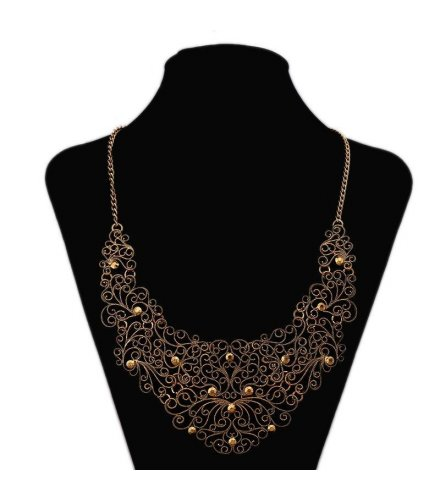 N1049 - Hollow Carved Necklace