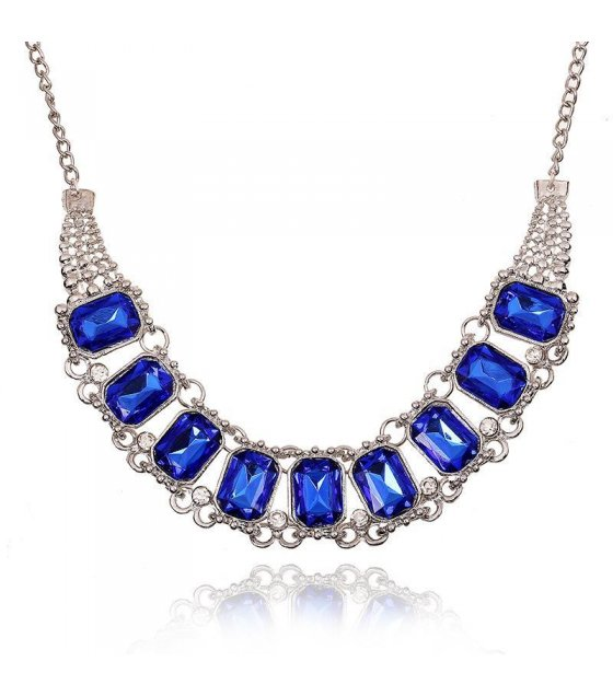 N1050 - Blue Gem Necklace
