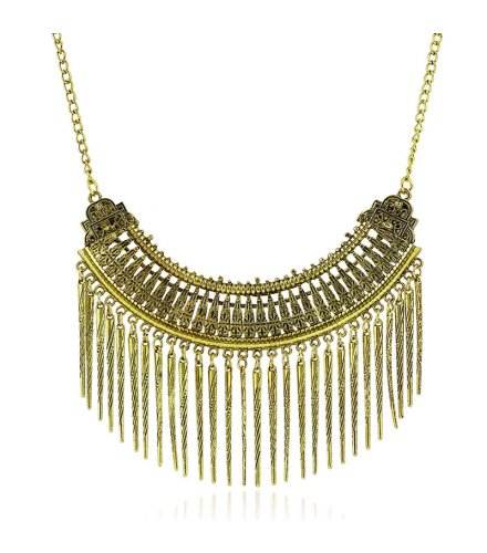 N1078 - Metal elegance tassel necklace