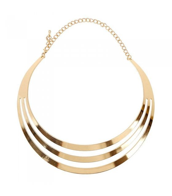 N1085 -Glossy collarbone chain necklace