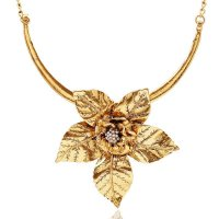 N1119 -Large Flower Party Wear Necklace