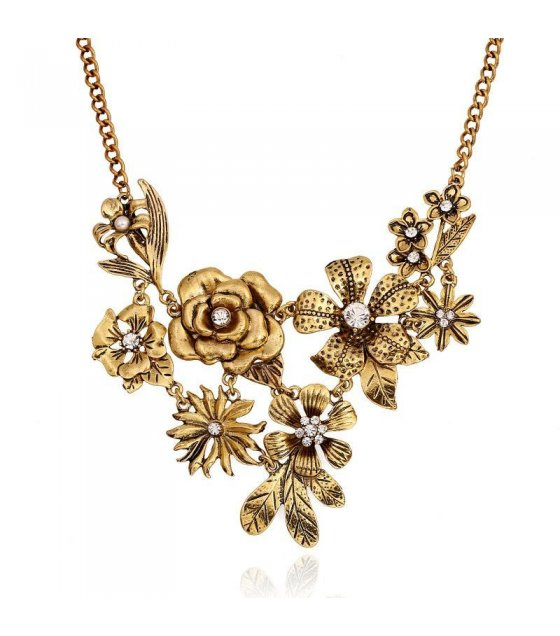 N1120 - Floral Chunky Necklace
