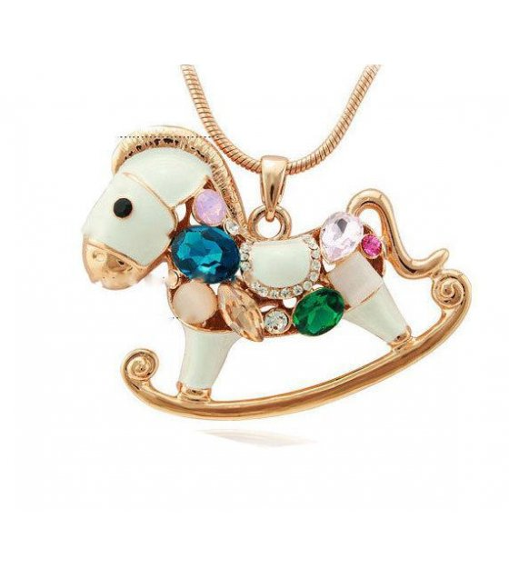 N1240 - Colorful Horse Necklace