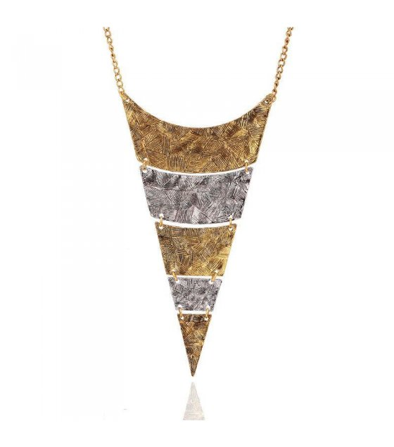 N1262 - Vintage Triangular Necklace