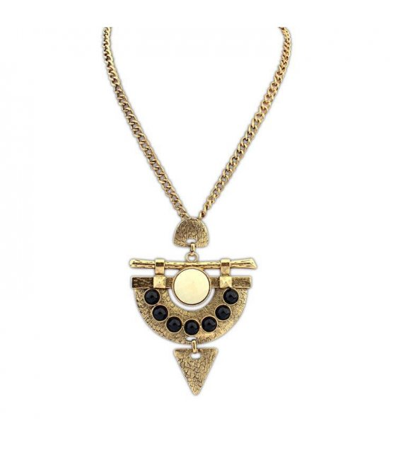 N1273 - Vintage Geometrical Pendant Necklace