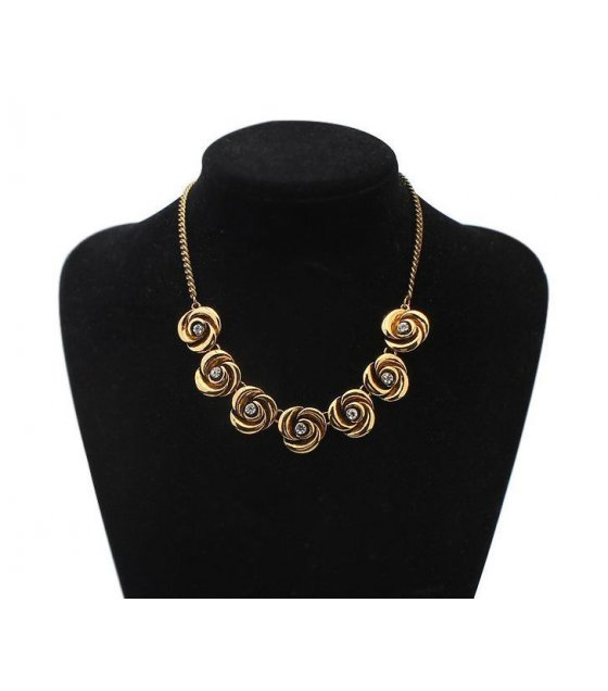 N1280 - Bronze Floral Necklace