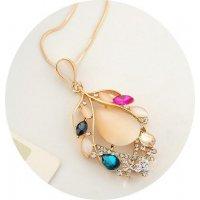 N1284 - Colorful Leaf Necklace
