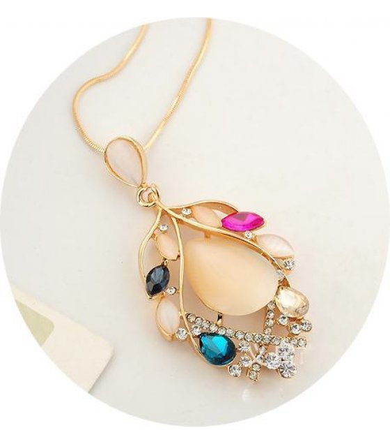 N1284 - Colorful Leaf Necklace