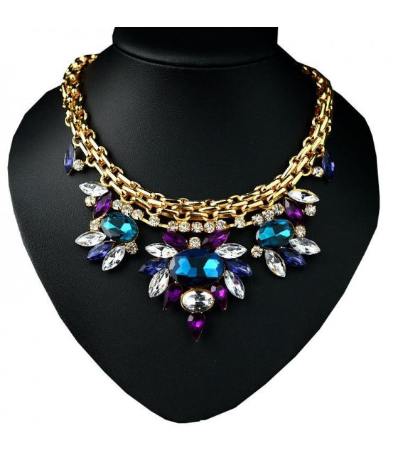 N1293 - Colorful Gemstone Necklace