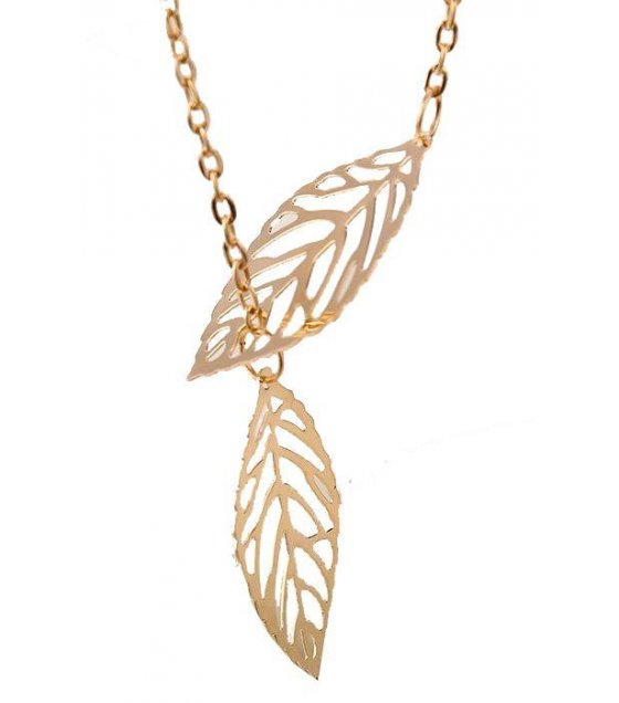 N1390 - Trendy Alloy Leaf Pendant