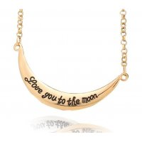 N1394 - Classic Carved Alloy Lovers necklace
