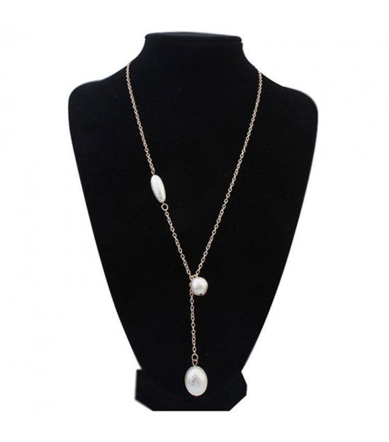 N1404 - Multi layer Gold Bubble Necklace