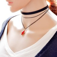 N1439 -  Multilayer Stoned Necklace