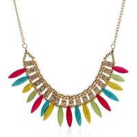 N1450 - Multicolored Short Para necklace