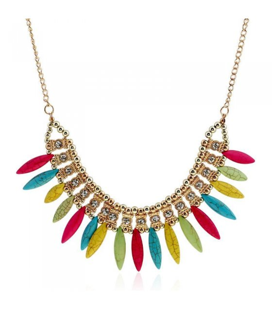 N1450 - Multicolored Short Para necklace