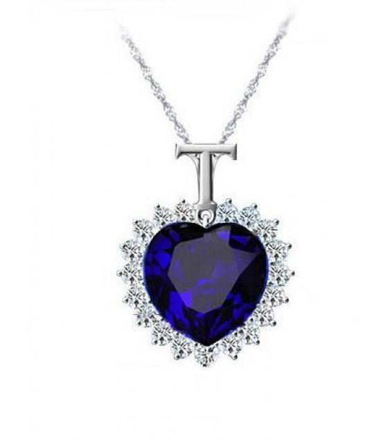 N1489 - Titanic Gem stone necklace