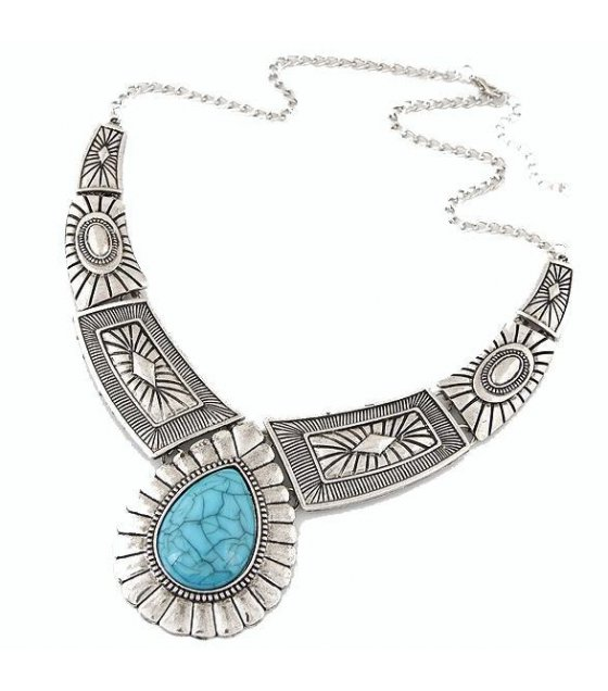 N1560 - Blue Gemstone Necklace