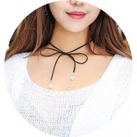 N1578 - Bowknot pearl sweater chain