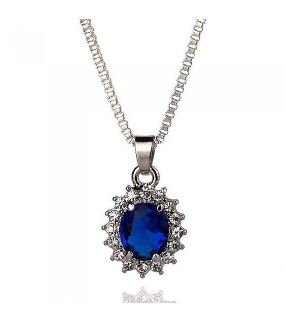 N1584 - Austrian crystal zircon Necklace