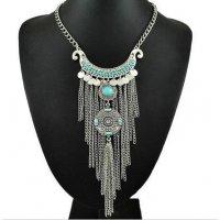 N1597 - Tassel temperament long necklace