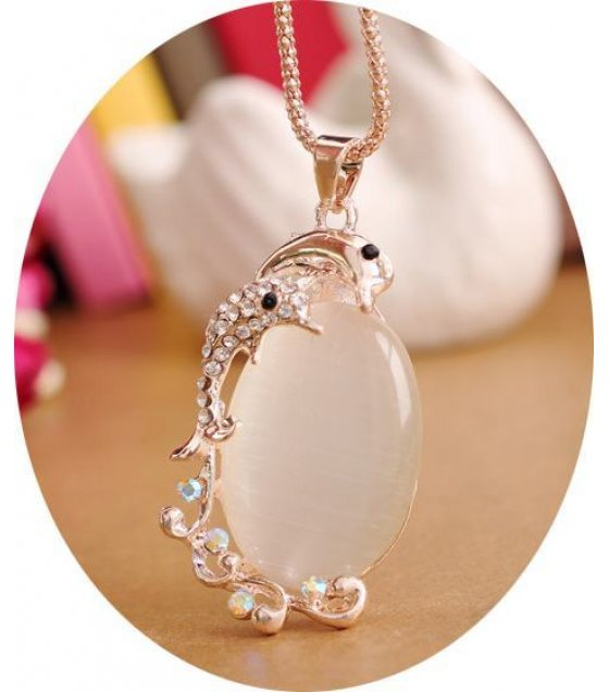 N1618 - White Opal Necklace