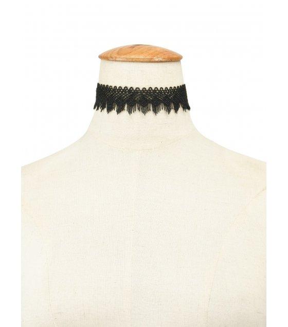 N1636 - Black Lace Necklace