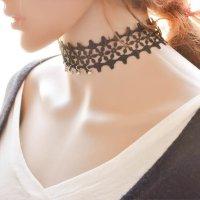 N1645 - Black Choker Lace Neclace