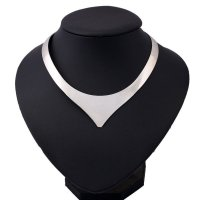 N1649 - Silver Collar Necklace