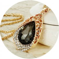 N1653 - Blue Gemstone Necklace