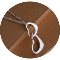 N1664 - Silver Heart Necklace