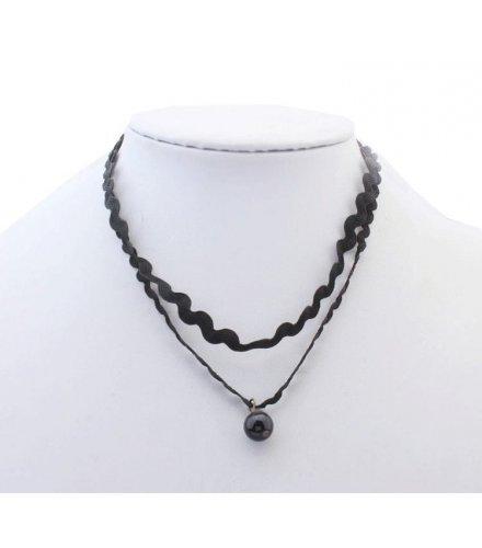 N1678 - Simple Black Necklace