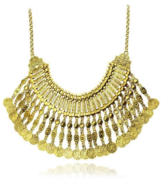 N1736 - Gold coin Necklace
