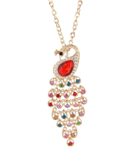 N1740 - Red Peacock Necklac