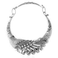 N1758 - Retro Peacock Necklace