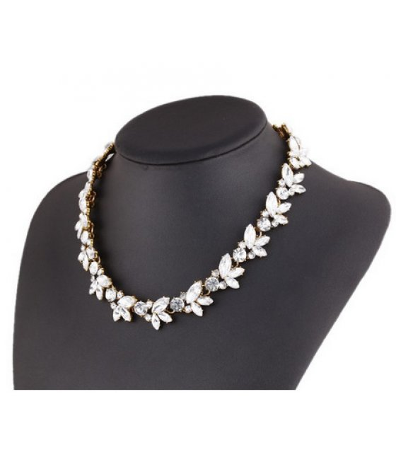 N1763 - Wheat style bright flowers Necklace