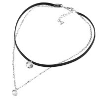 N1777 - Double diamond diamonds short necklace