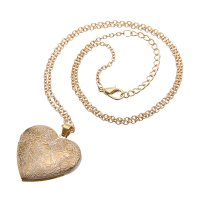N1780 - Peach Heart Necklace