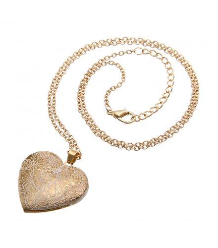N1780 - Peach Heart Necklace
