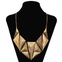 N1792 - Retro shaped triangle wild punk Necklace