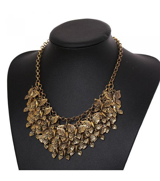 N1794 - Retro multi-layer butterfly Necklace