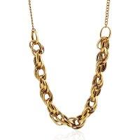 N1800 - Metal twist big chain retro Necklace