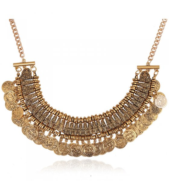 N1811 - Tassel coin necklace
