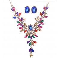 N1818 - Luxury diamond gem Necklace